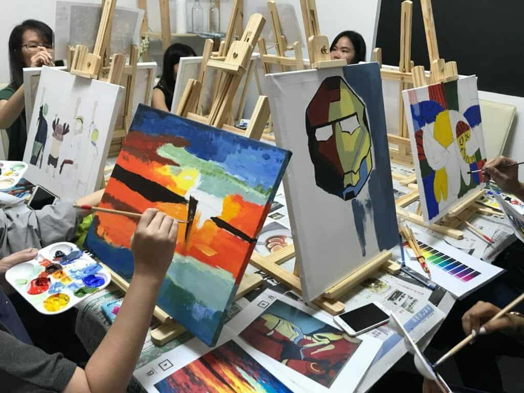 creative workshops in Singapore - art jamming - team building activities