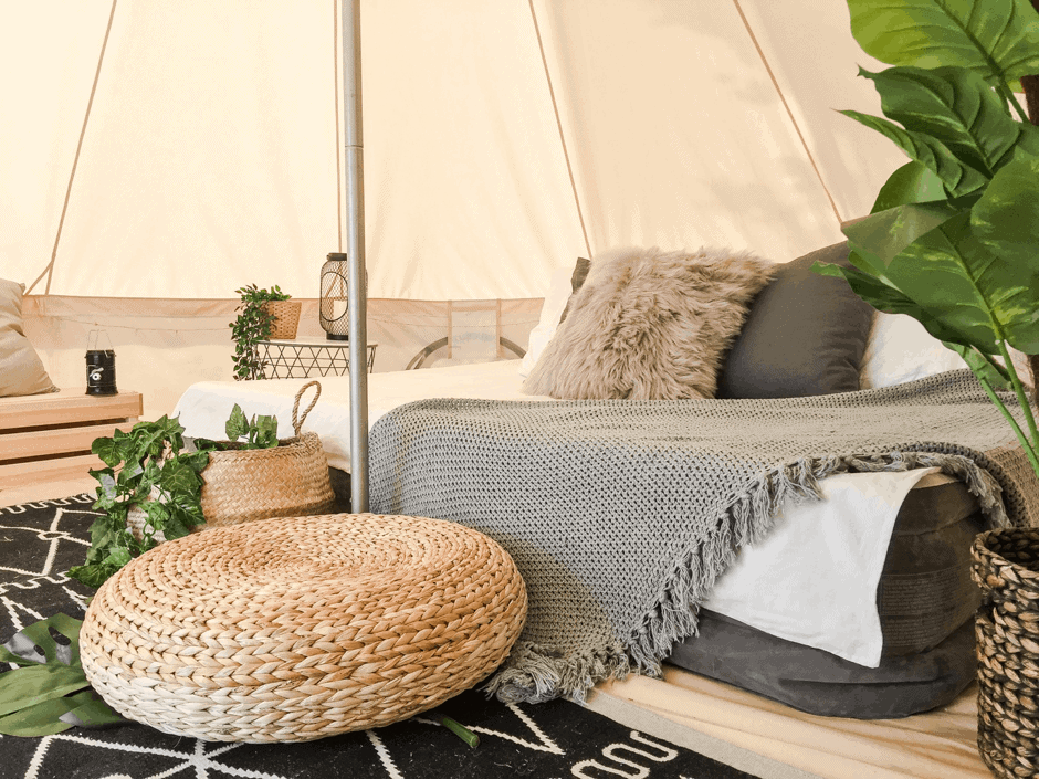 glamping city - glamping and picnic setups - valentines day guide